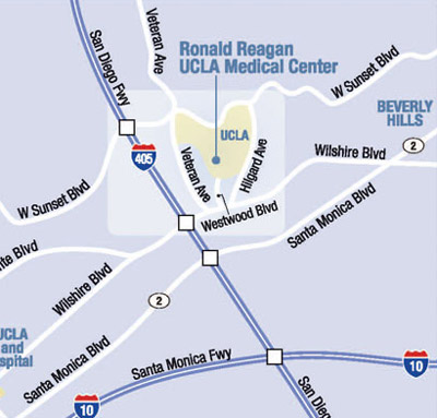 UCLA vicinity map